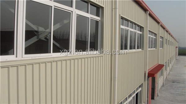 fast erection rockwool sandwich panel steel structure two story building