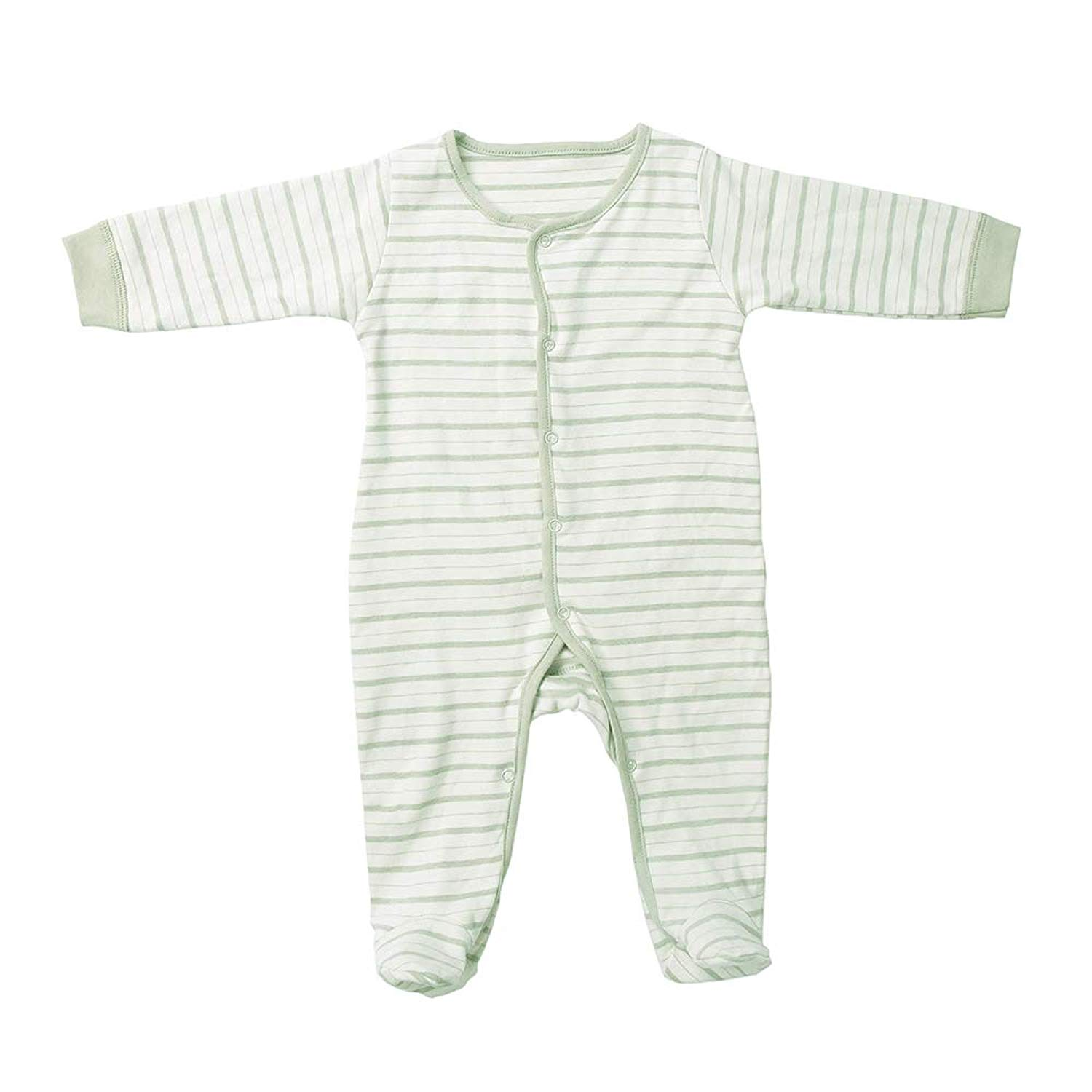 b3b3f98695 Get Quotations · MFHOU Footed Pajamas Sleeper Striped 100% Cotton Pajamas  Sleepwear for Unisex Baby (6-