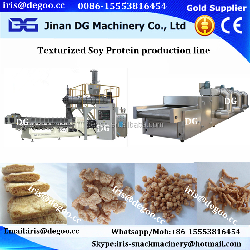 Textured soya protein process line/Soy Protein Food Machines/Processing line