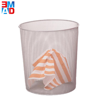 Cheap 26cm metal wire mesh round shaped waste paper basket for office household