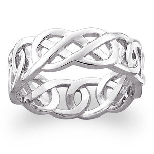 Sterling Silver Celtic Knot Wedding Band Ring - Buy Ring Product on ...