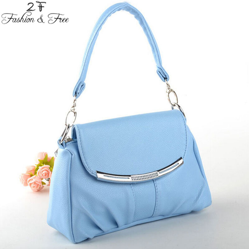2015 new Korean fashion handbag pu small bag of candy colored casual laptop shoulder bag woman packet women 8 colors women bags