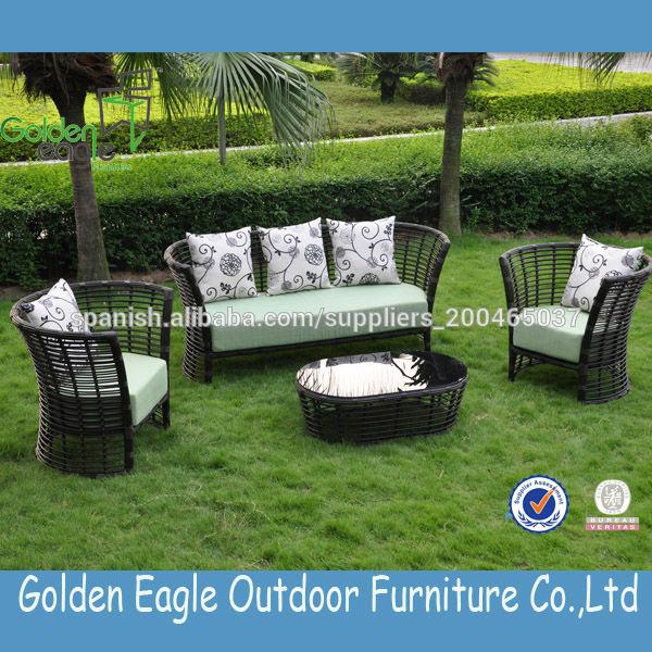 muebles al aire libre muebles de ratán sintético barato sofá de ...