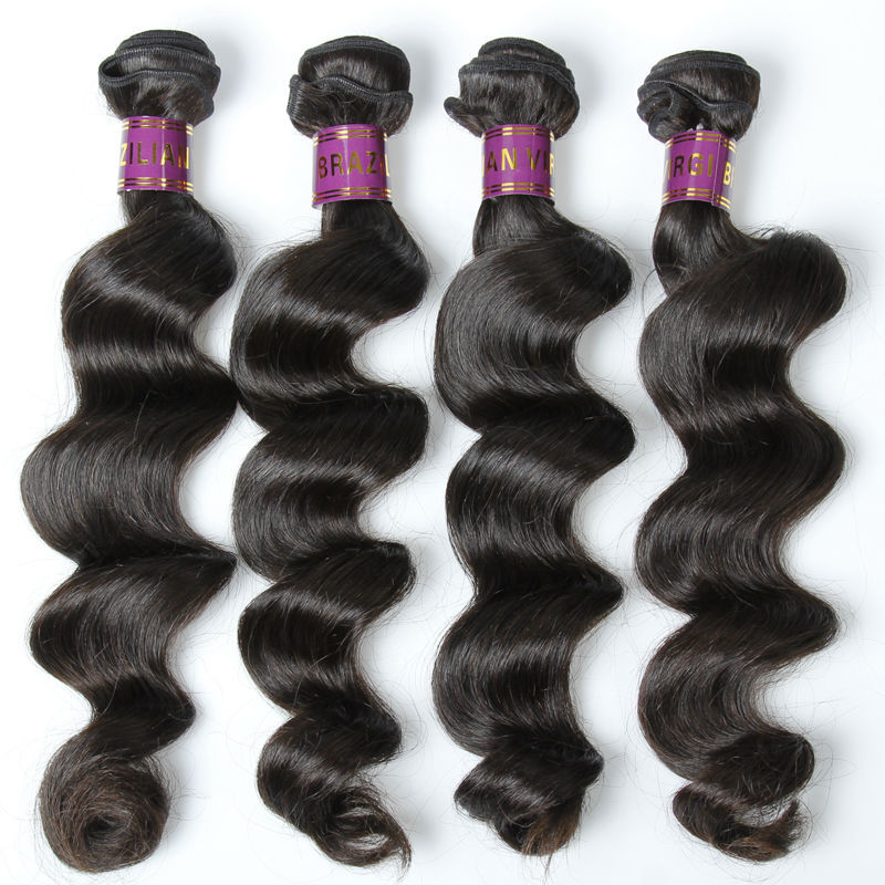 XBL Brazilian hair weave bundles, loose wave remy human hair extension