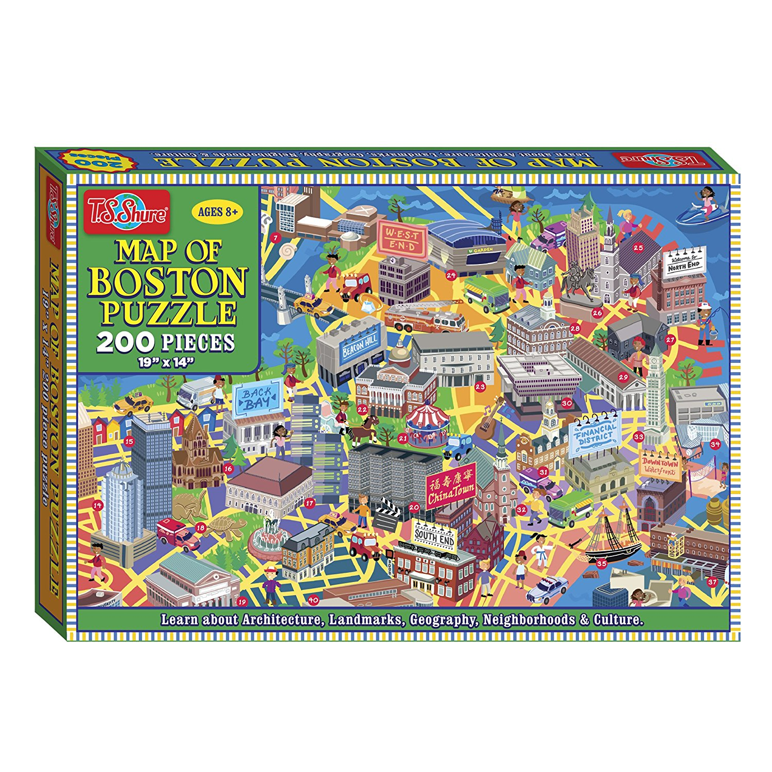 T.S. Shure Map of Boston 200 Piece Jigsaw Puzzle