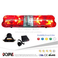 DC12V Rotating Halogen led warning light bar, led flashing strobe police lightbar with siren & speaker