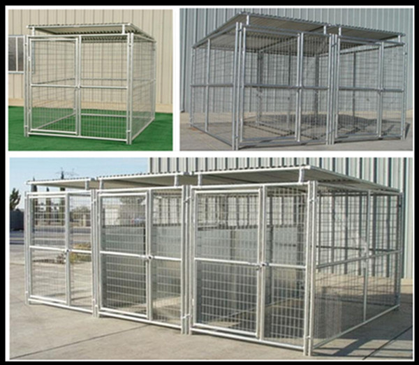 Gate With Galvanized Big Animal Mesh Cages Metal Welded