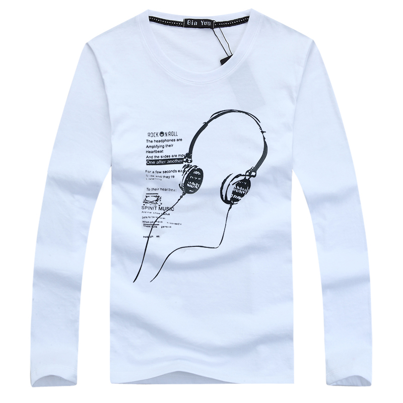 2015 Summer Style New Brand Headset swag Cotton Long Sleeve Printed swag fitness hip hop t shirt men t-shirt mens shirts tshirt