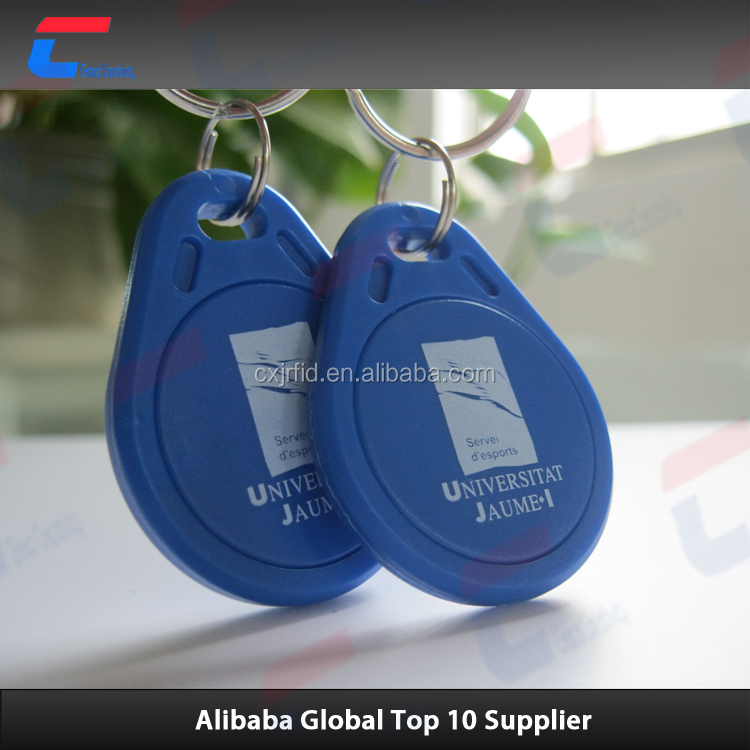 ABS MIFARE Classic 4K proximity RFID key fob with ring