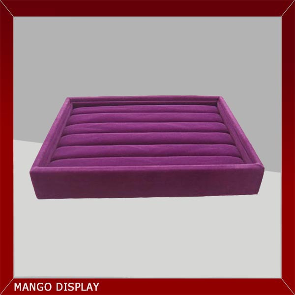Purple velvet jewelry tray for necklace
