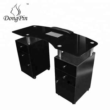 nail salon furniture packages black nail tech desk nail station ...