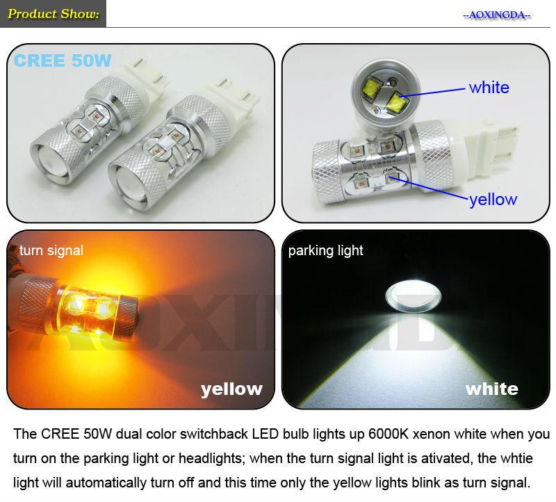 Ck 3157 C.r.e.e 50w Dual Color Switchback Led Bulb