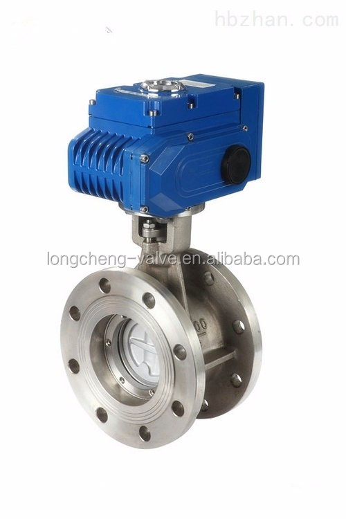 Dn50 stainless steel electric actuator butterfly valve for Motor operated butterfly valve