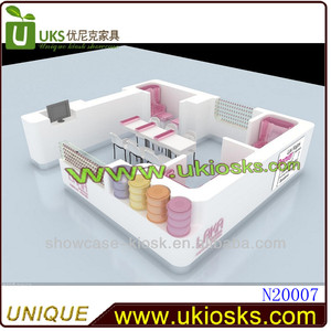 Fashion nail bar furniture, LAKA brand nail kiosk for manicure