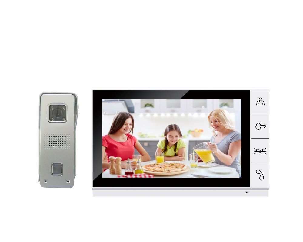 Wired 9 Inch Color TFT LCD Video Door Phone Visual Intercom