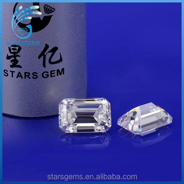 4*6mm 0.5ct vvs clarity colorless emerald cut loose moissanite gem for jewelry setting