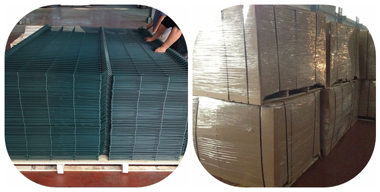 Used Powder Coated Green Color Triangle Welded Wire Mesh