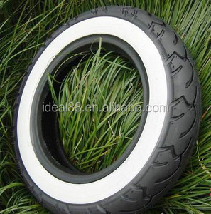hot sale motorcycle tire 350-10 white side color tyre