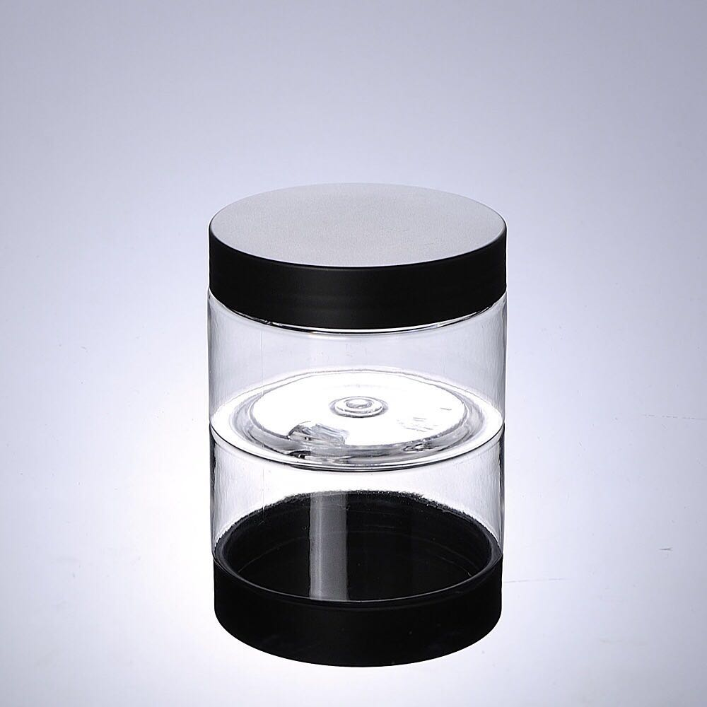 Cheap Empty Plastic Face Cream Cosmetic Jar for face mask with clear cap