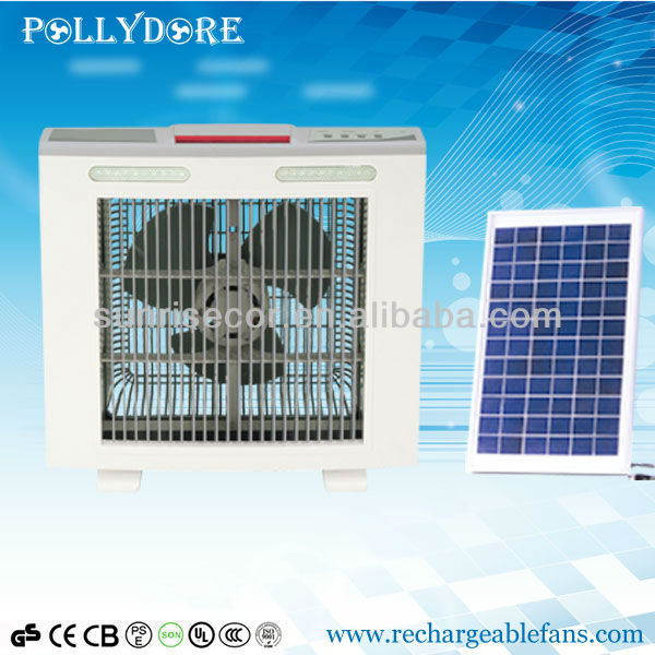 Rechargeable Fan Solar AC/DC Fan for home with LED Light Made In China XTC-268A