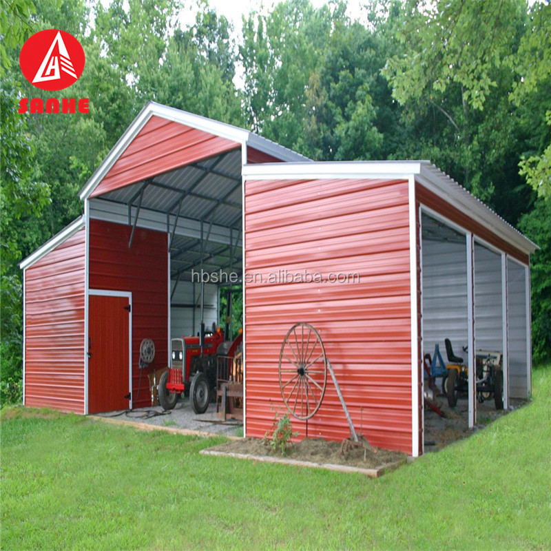 Cheap Wind Resistant Outdoor Prefabricated American Horse Barns