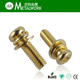 (OEM) Hot-Selling High Quality Brass Philip Pan Head Sems Screw with Spring & Flat Washer