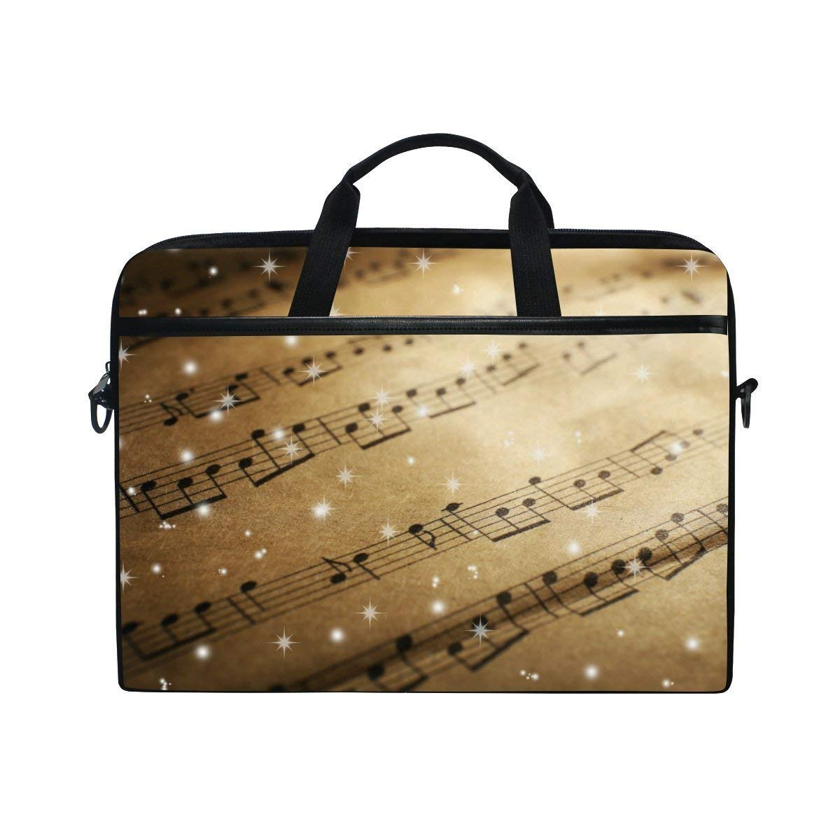 0ec14d9e8b Get Quotations · YQINING Bling Music Sheet Laptop Bag Briefcase Shoulder Messenger  Bag for Men and Women Fits 15