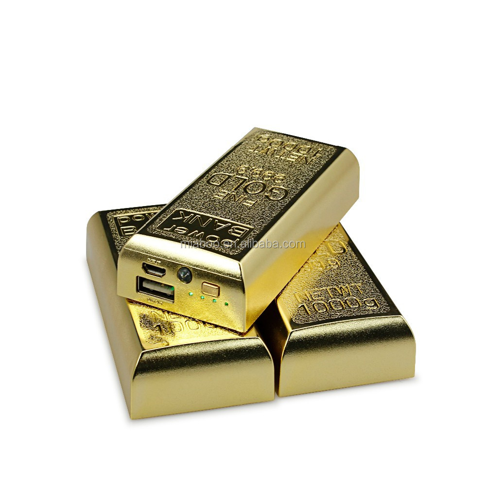 unique design gold bar power bank, gift items 4400mah power bank, distributors wanted portable power bank for laptop