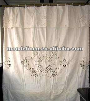 leinenvorhang mit spitze gardine produkt id 524807756. Black Bedroom Furniture Sets. Home Design Ideas