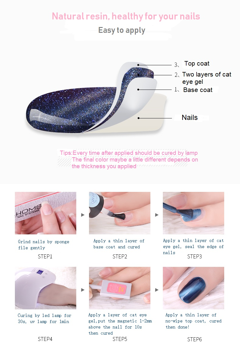 2018 Colorfeel 15ml New Nail Art Wholesale Soak off Mirror Effect Magnetic Cat Eyes Chameleon UV Gel Nail Polish