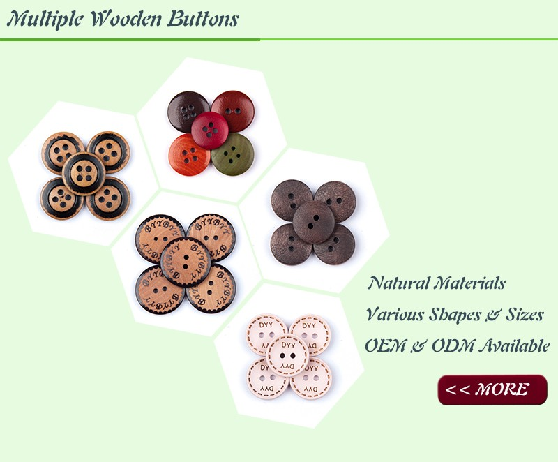 wooden button choices