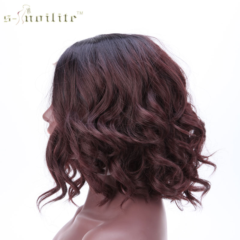 Snoilite 16 Inch Body Wave Lace Front Wig Heat Resistant
