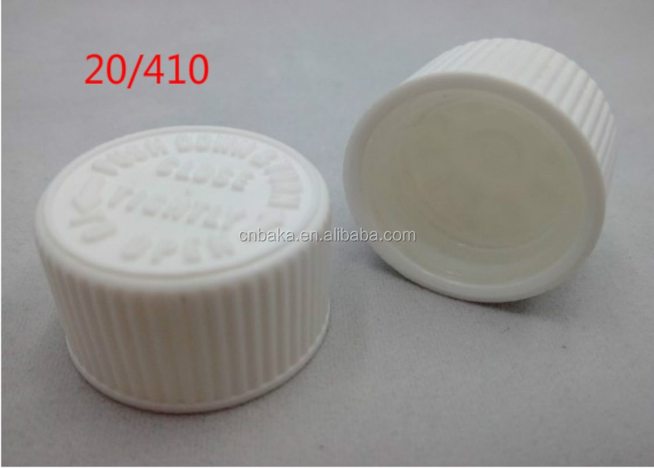 20/410 child safety bottle cap, child proof cap for medicine bottle for capsule, spill proof bottle cap