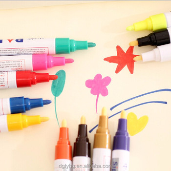 Medium Point Tip Oil Based Paint Pen Markers - Permanent Ink That Works On  Most Surfaces Glass,Wood,Metal,Rubber,Stone,Art - Buy Acrylic Paint Pen,Car