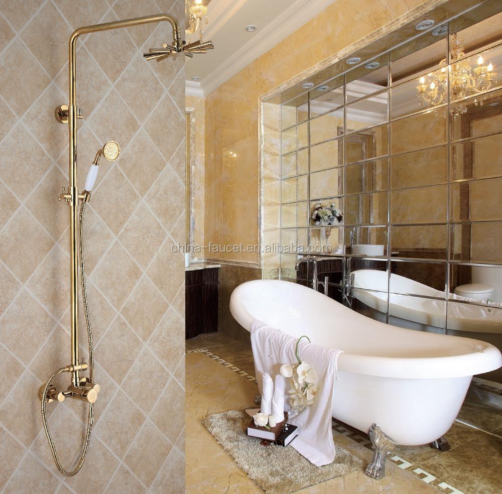 Antiguo ba o conjuntos de ducha de oro laminado grifer a for Griferia bano vintage