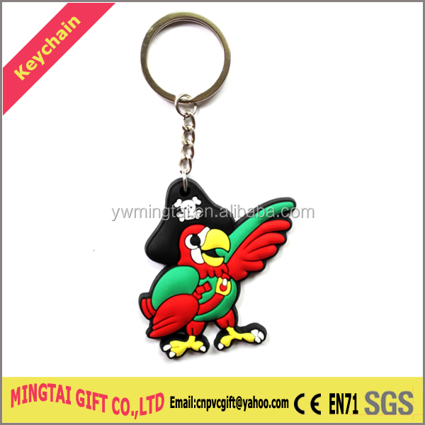 Custom Rubber 3D Keychain,Plastic Customized Keychain PVC Key Chain