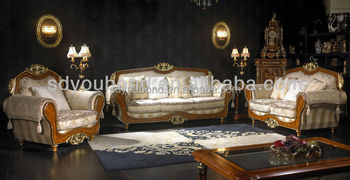 10050 European Classic Wooden Antique Sofa Set