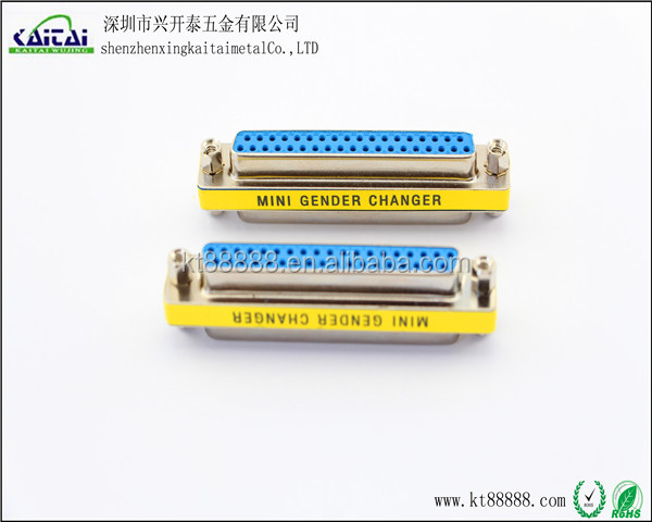 D Type 25 Pin Mini Gender Adapter