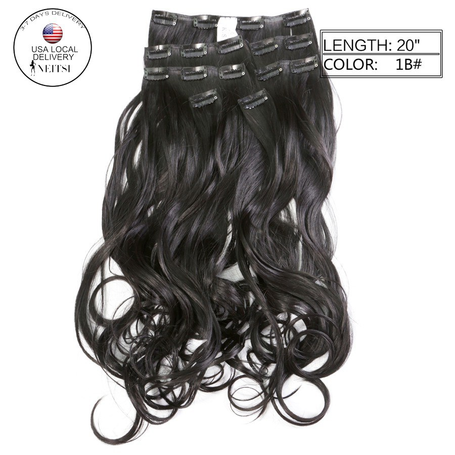 Buy Neitsi 7pcs 16clips Synthetic Clip In Curly Hair Extensions 140g