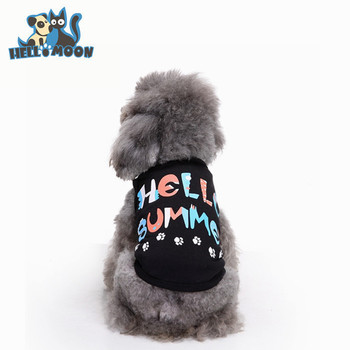 Bulk Stocked Summer Cool Black Hello Summer T Shirt Dog Clothing