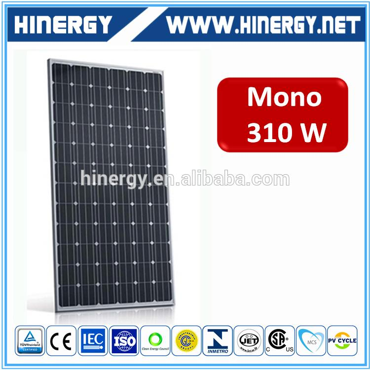 Off -Grid utility scale 310 w solar panels 310 watt mono solar panel