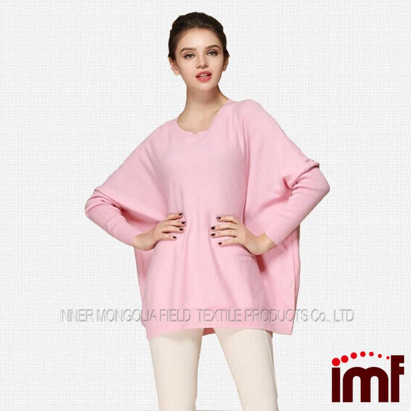 Korean Sweater Pure Cashmere Ladies Pink Sweater - Buy Ladies Pink ...