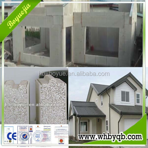 eco-friendly lightweight wall eps sandwich panels sound proof insulation bricks