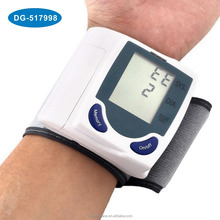 digital LCD wrist blood pressure monitor with heart beat rate pulse meter measure