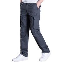Custom Casual Black Workwear Cargo Pants,Mens Blank Sweet Pants Loose Trousers With 6 Pockets