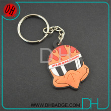 Custom Souvenir Bird Logo Soft Pvc Keychain/Custom Soft Pvc Rubber Charms