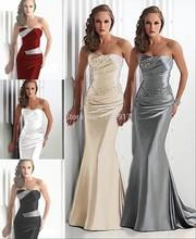 Lesklé večerní šaty bez ramínek v různých barvách z Aliexpress