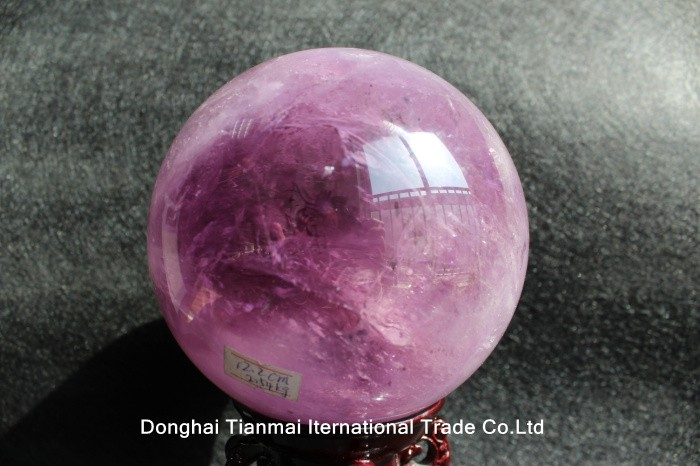 High Quality Purple Amethyst Quartz Crystal Stone Sphere Ball for Decoration/amethyst healing sphere for sale