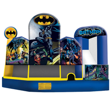 Customized used commercial Superman action air jumping castle airflow bouncer for boys