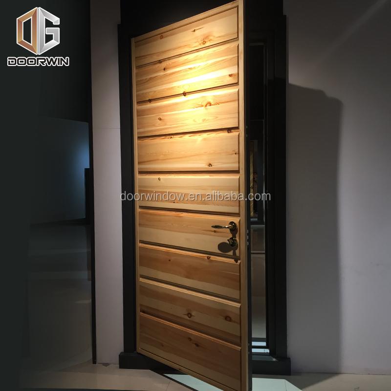 Doorwin armored doors-Hot new products wood aluminum composite frame front entrance security door